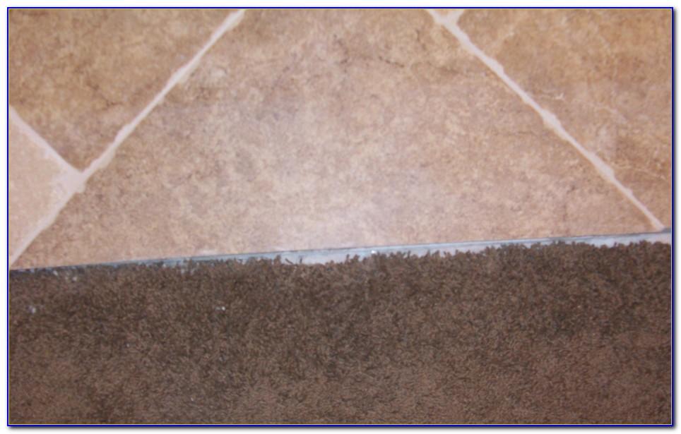 Carpet To Tile Transition Strip Installation