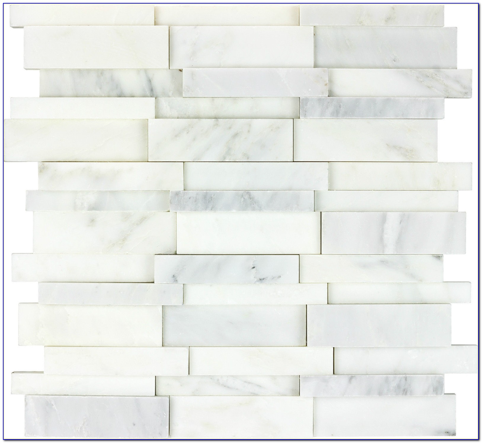 Carrara Marble Basketweave Mosaic Tile