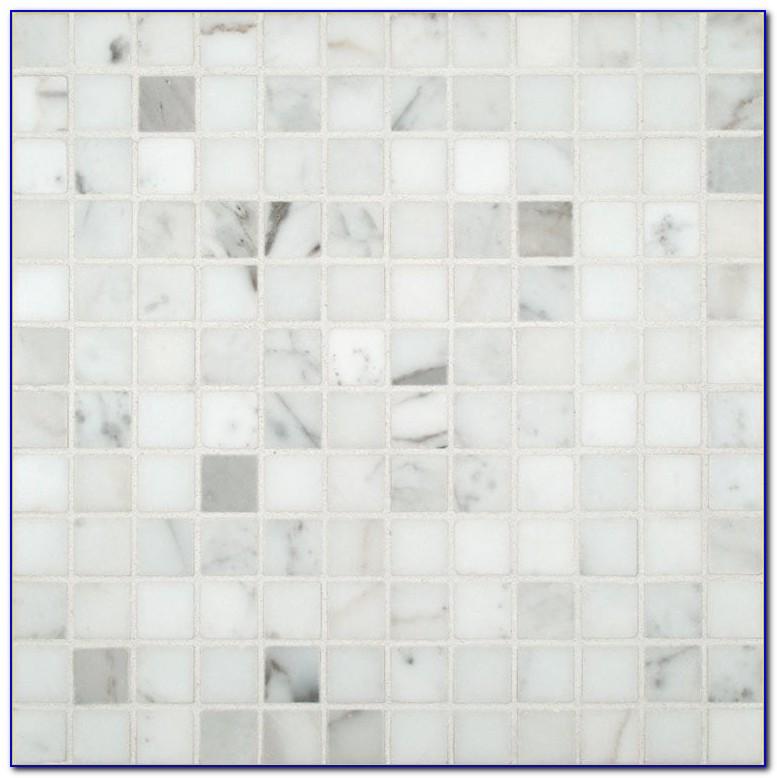 Carrara Marble Mosaic Tile Floor