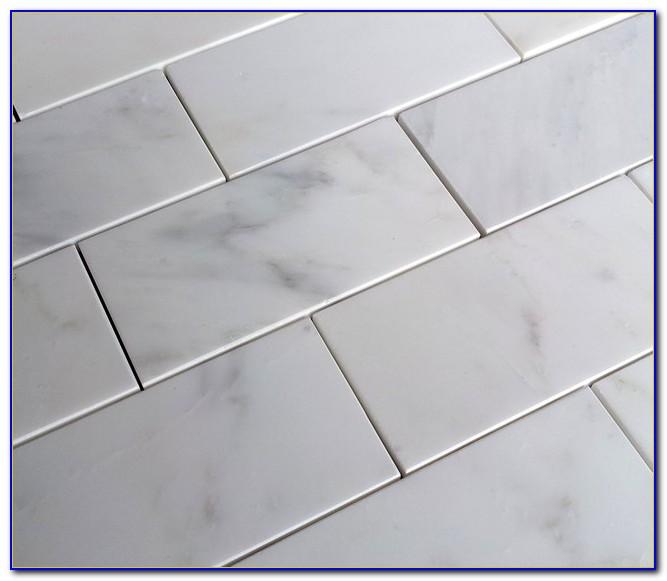 Carrara Marble Subway Tile Floor And Decor