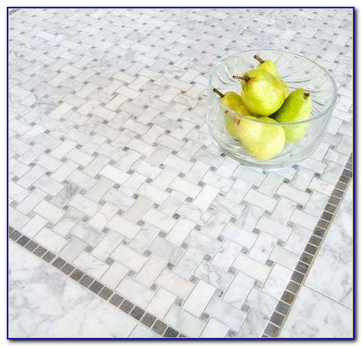 Ceramic Tile Basket Weave Pattern