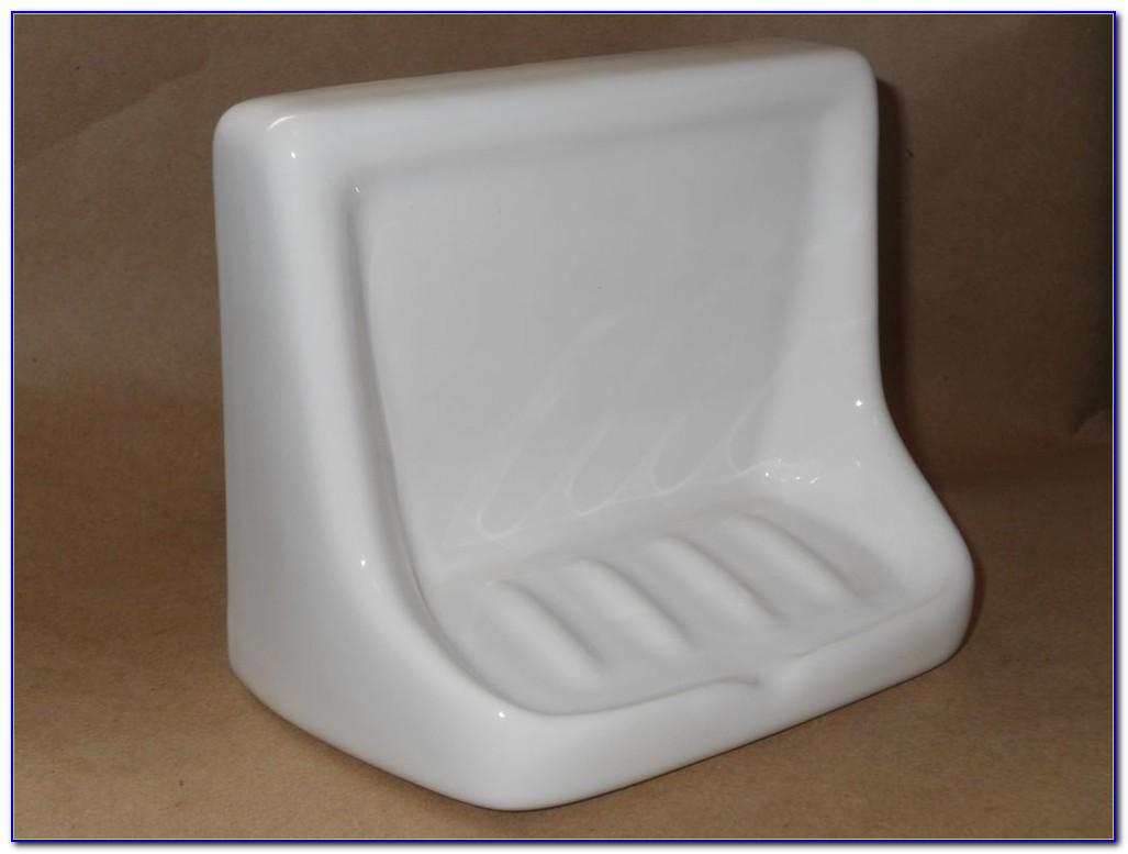 Ceramic Tile Soap Dish Installation