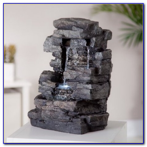 Diy Tabletop Rock Fountain