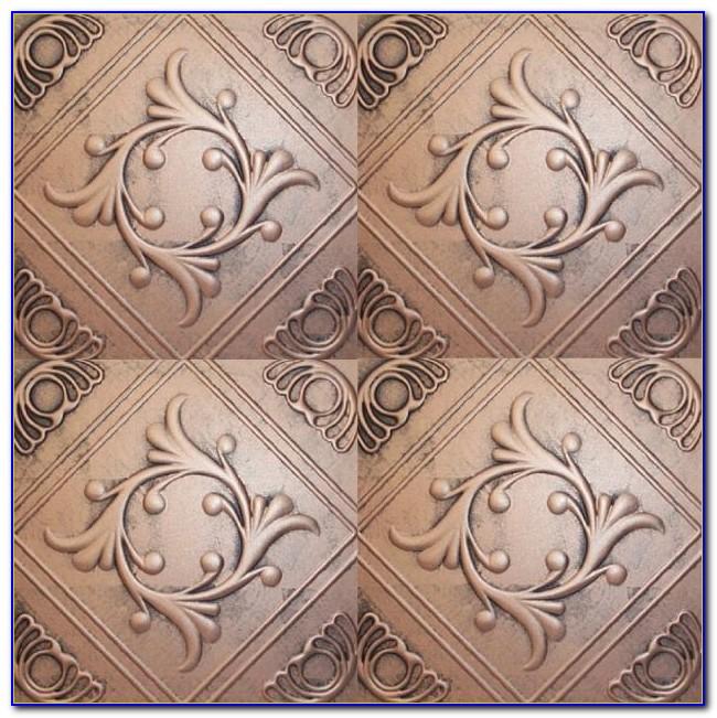 Faux Copper Drop Ceiling Tiles