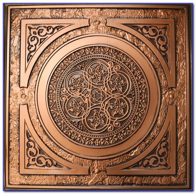Faux Copper Tin Ceiling Tiles