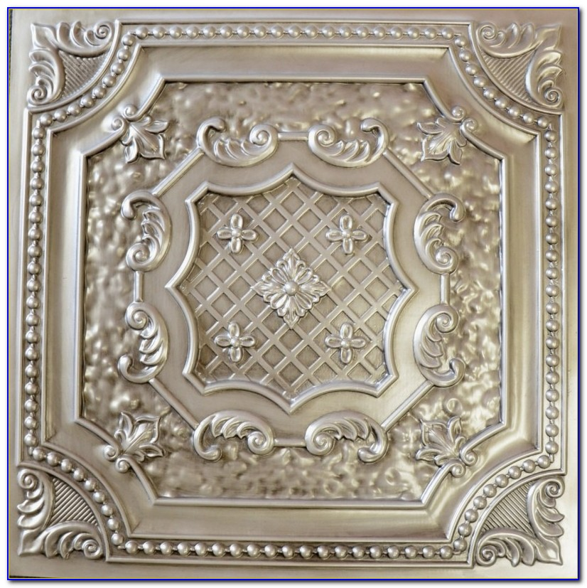 Faux Tin Ceiling Tiles White