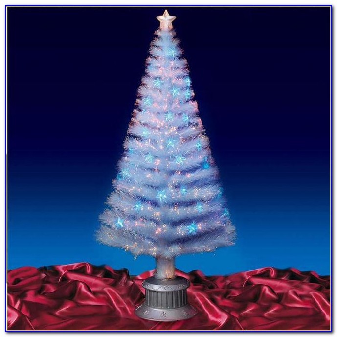 Fiber Optic Color Changing Spinning Tabletop Christmas Tree