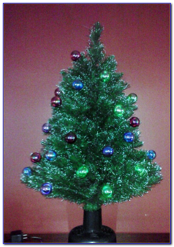 Fiber Optic Tabletop Christmas Trees