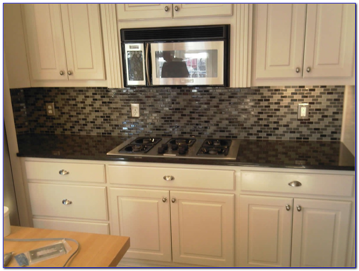 Glass Mosaic Tile Backsplash Installation