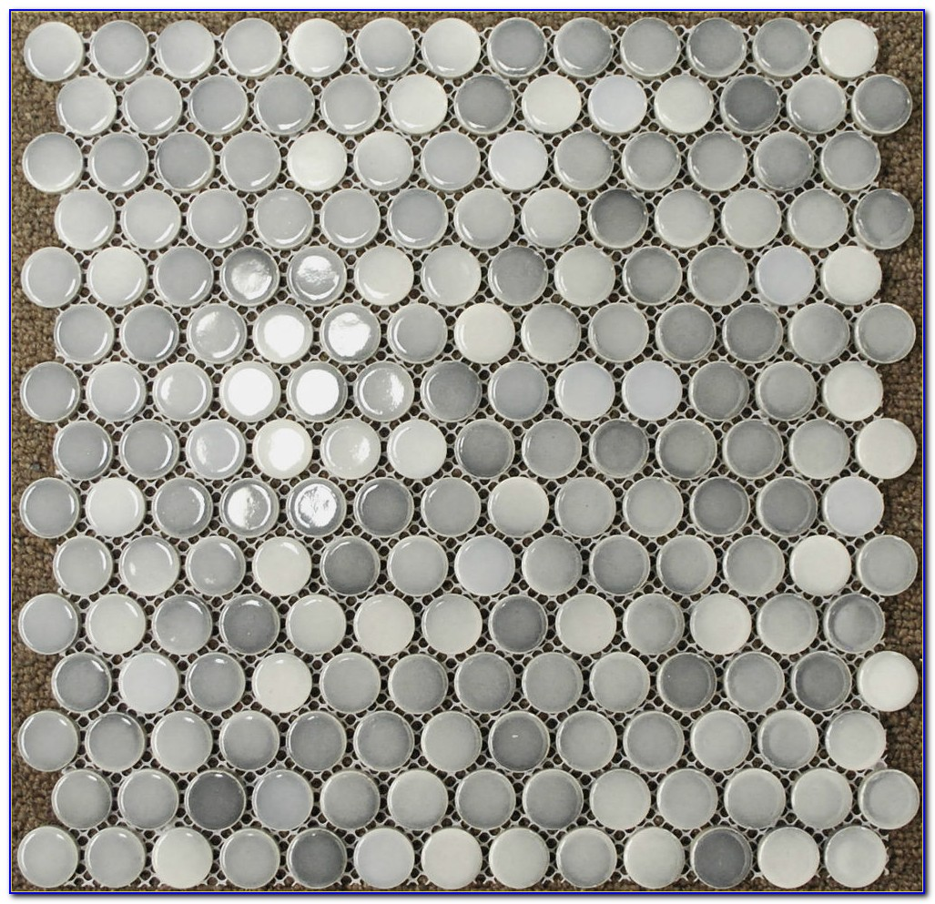 Glass Penny Round Floor Tile