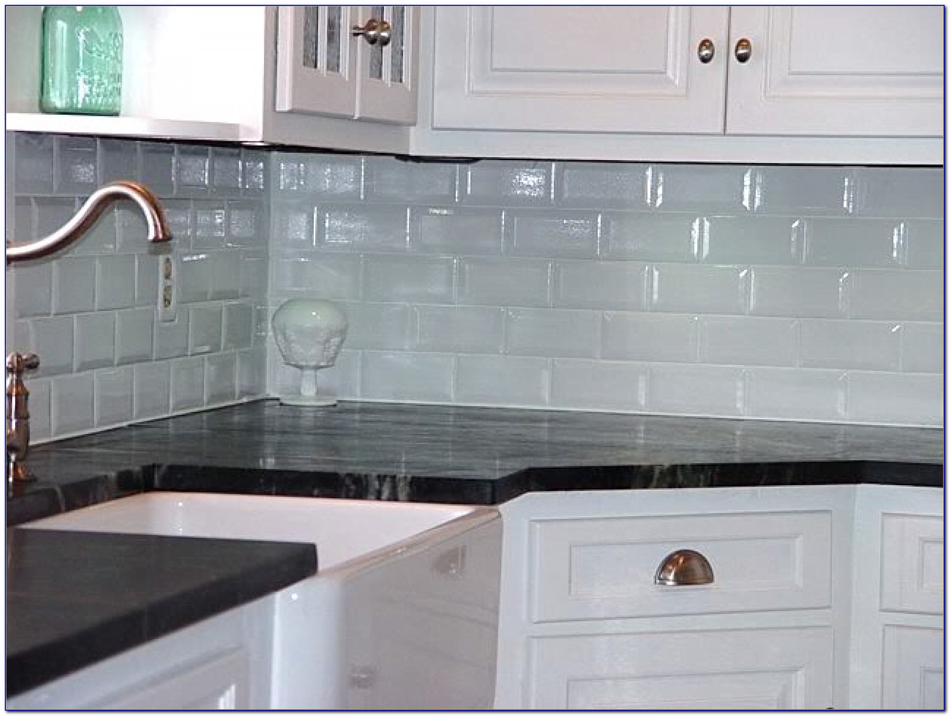 Glass Subway Tile Backsplash Images