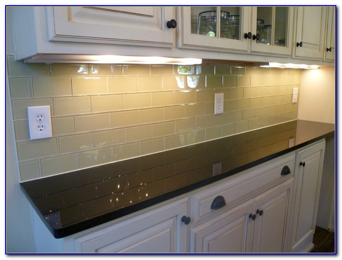 Glass Subway Tile Kitchen Backsplash Ideas