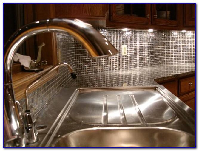 Glass Tile Backsplash Bathroom