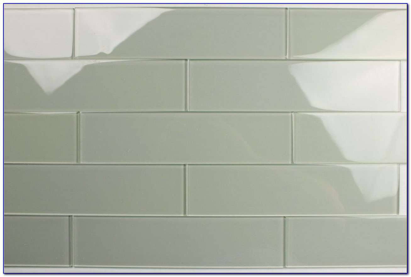 Grey Glass Subway Tile 3x6