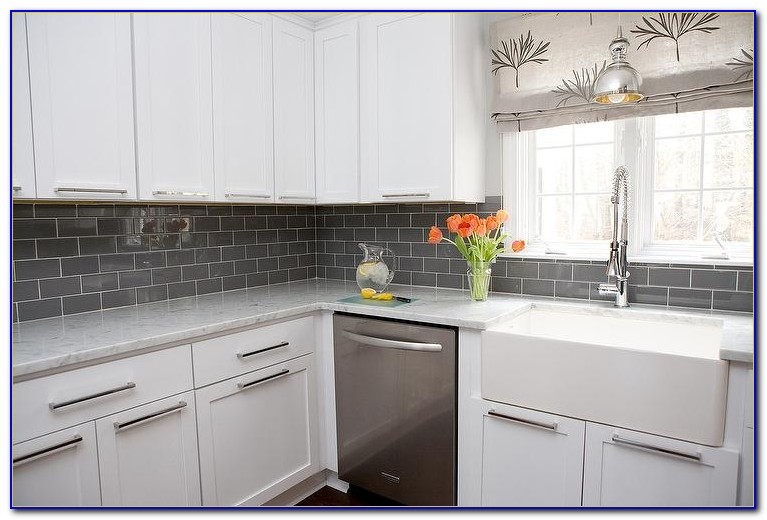 Grey Subway Tile Backsplash Ideas