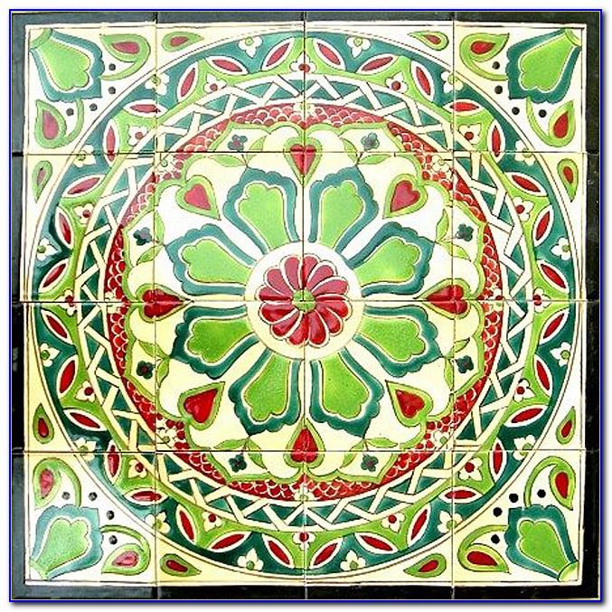 Hand Painted Ceramic Tile Backsplash