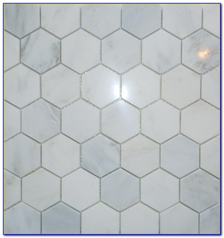 Hexagon Carrara Marble Mosaic Tile