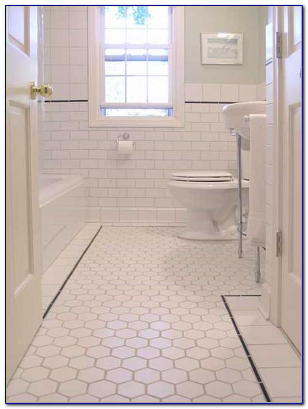 Hexagon Mosaic Bathroom Floor Tiles