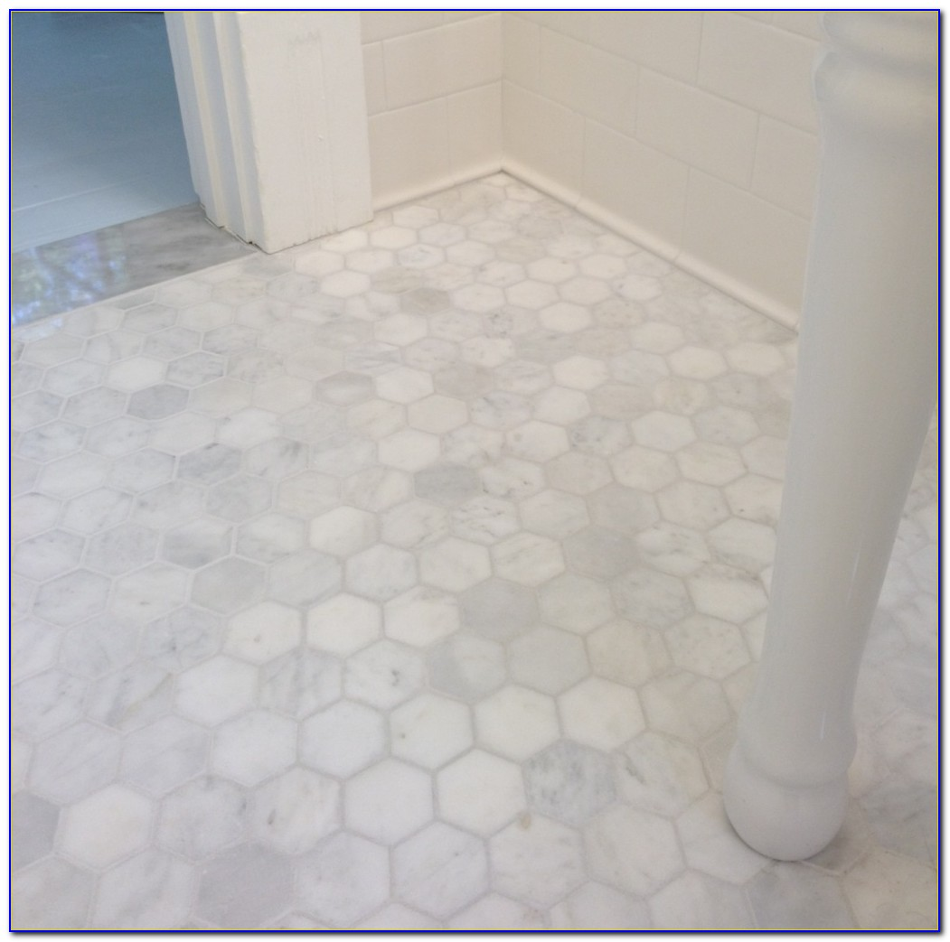Hexagon Tile Bathroom Floor