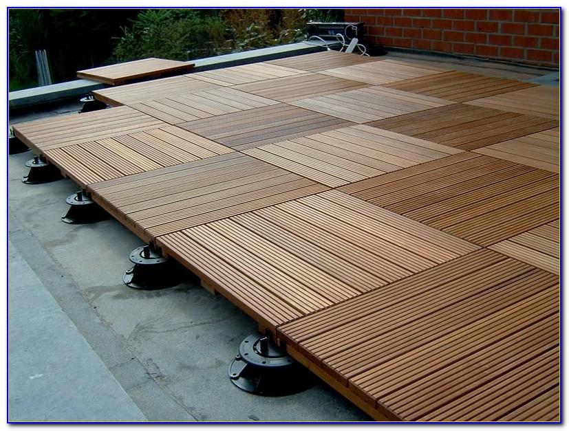 Interlocking Wood Deck Floor Tiles