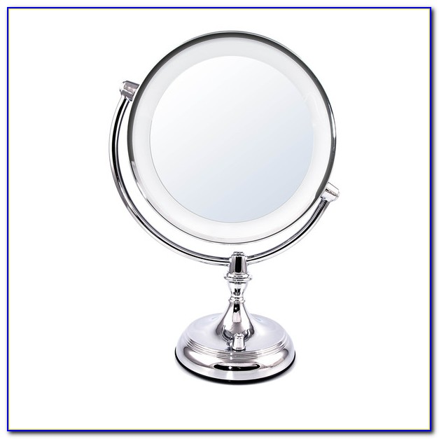 Jerdon Lighted Tabletop Makeup Mirror