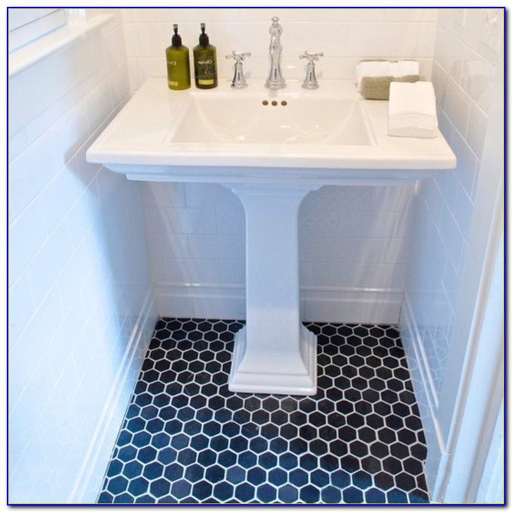 Large Hexagon Bathroom Floor Tiles