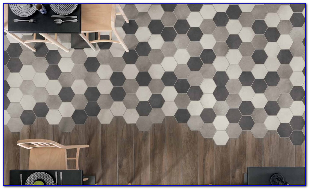 Large Hexagon Porcelain Floor Tile