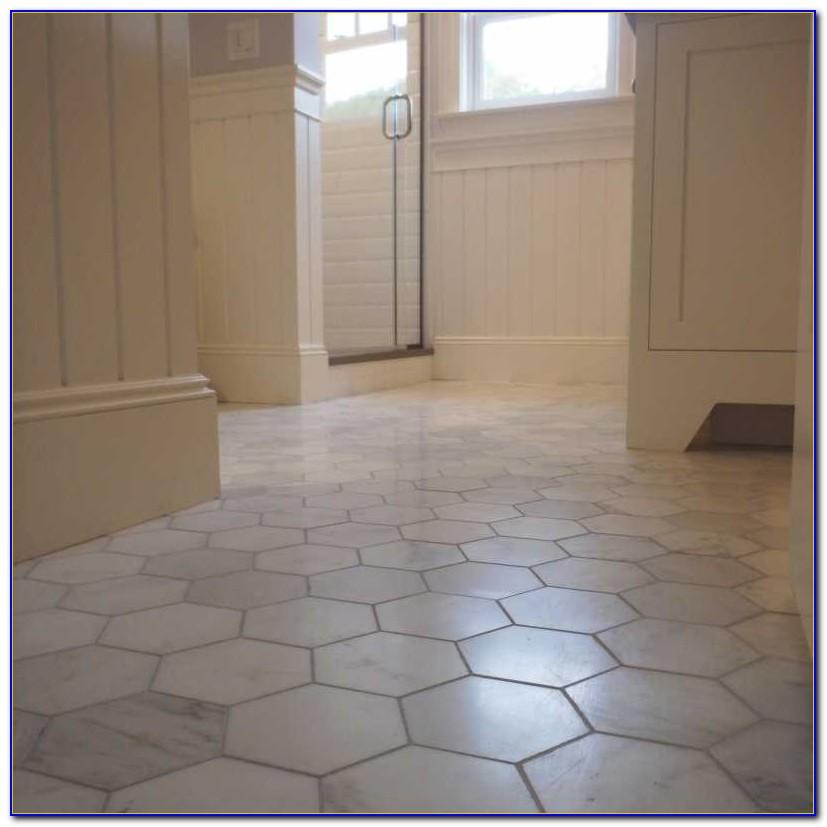 Marble Hex Tile Bathroom Floor