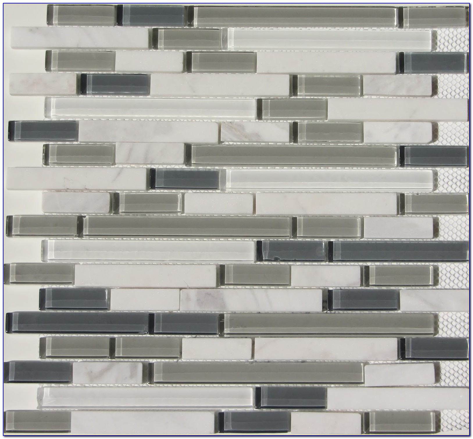 Mosaic Glass Tile Backsplash Installation