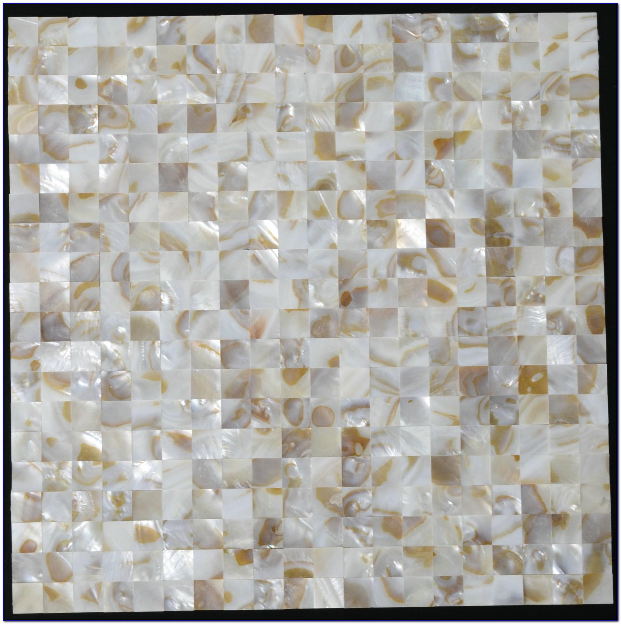 Mother Of Pearl Mosaic Tile Backsplash 12x12