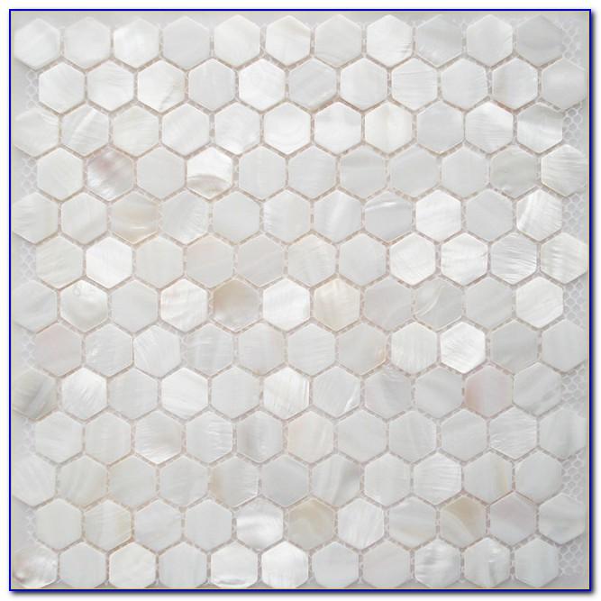 Mother Of Pearl Mosaic Tile Backsplash