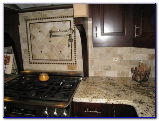 Natural Stone Mosaic Tile Backsplash