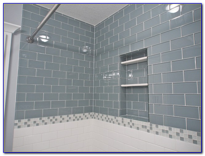 Ocean Grey 3x6 Glass Subway Tile