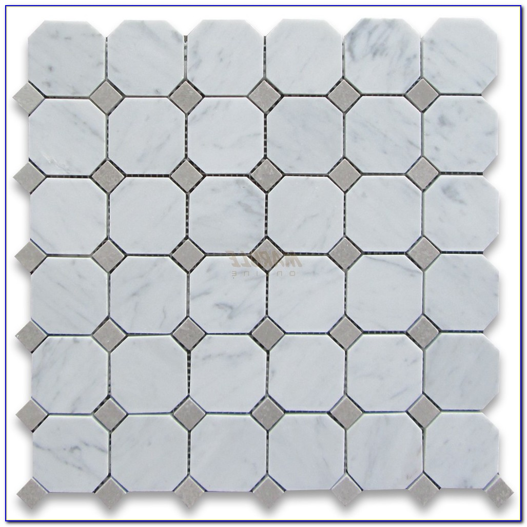 Octagon And Dot Ceramic Tile