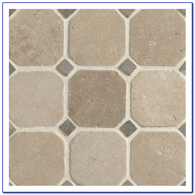 Octagon And Dot Tile Floor