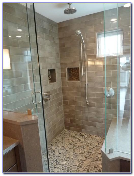 Pebble Tile Shower Floor Cleaning