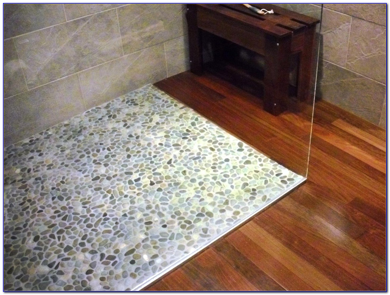 Pebble Tile Shower Floor Grout