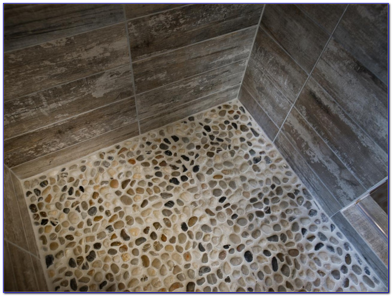 Pebble Tile Shower Floor Installation