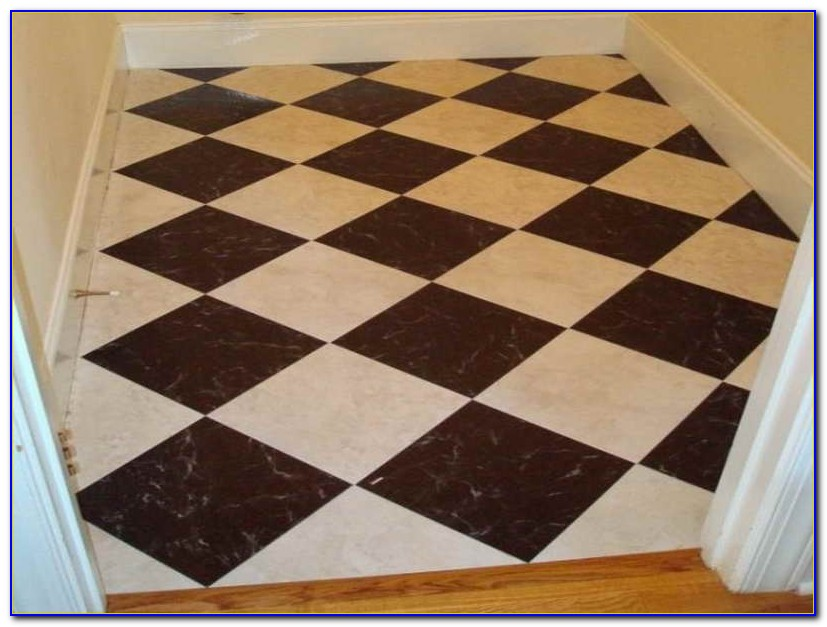 Peel And Stick Floor Tile Black And White