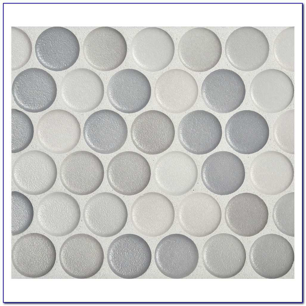 Penny Round Bathroom Floor Tile