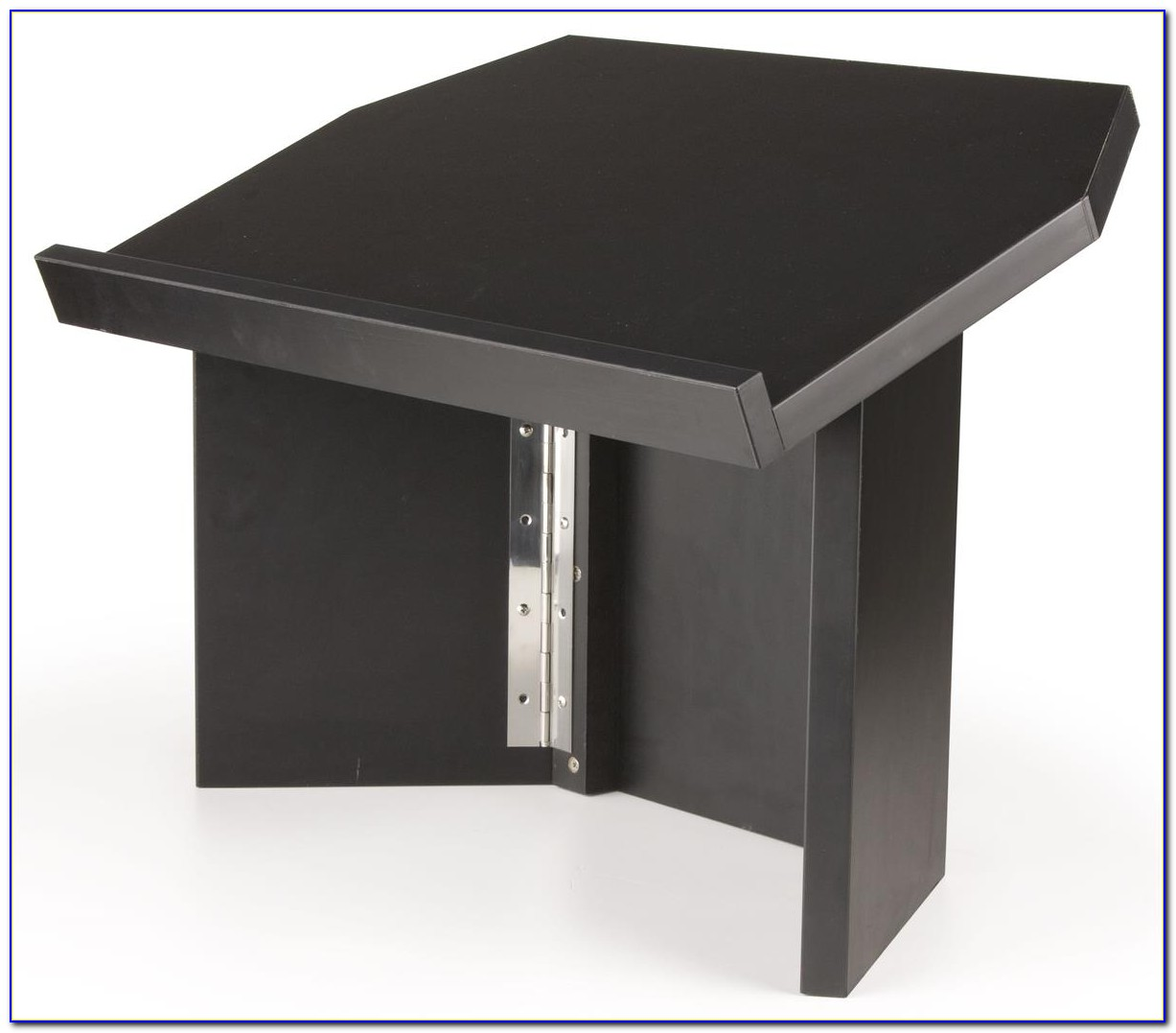 Portable Tabletop Lectern With Microphone