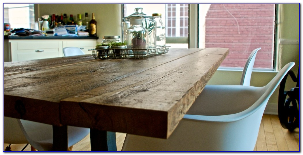 Reclaimed Wood Table Top Restaurant