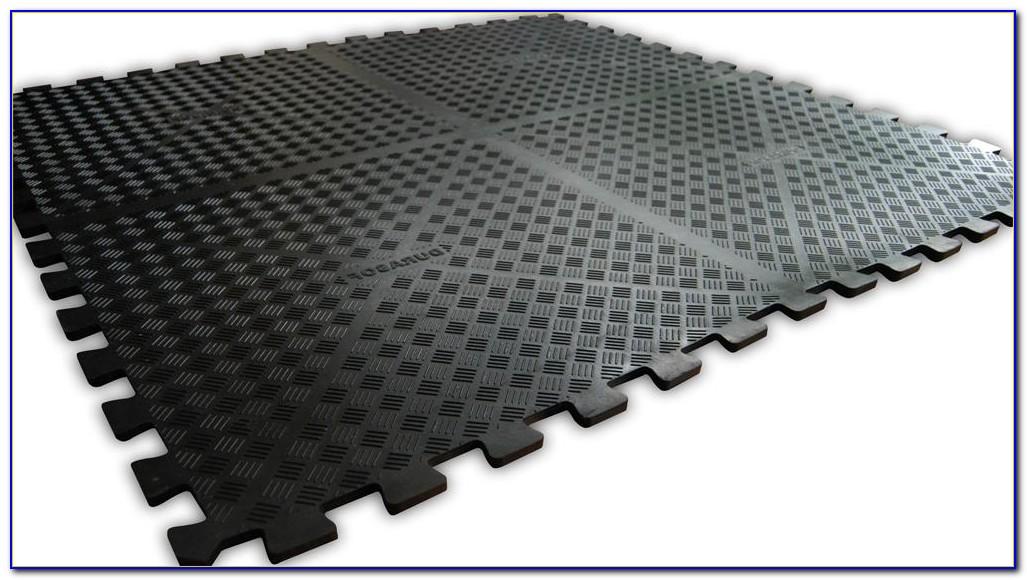 Recycled Rubber Garage Floor Tiles