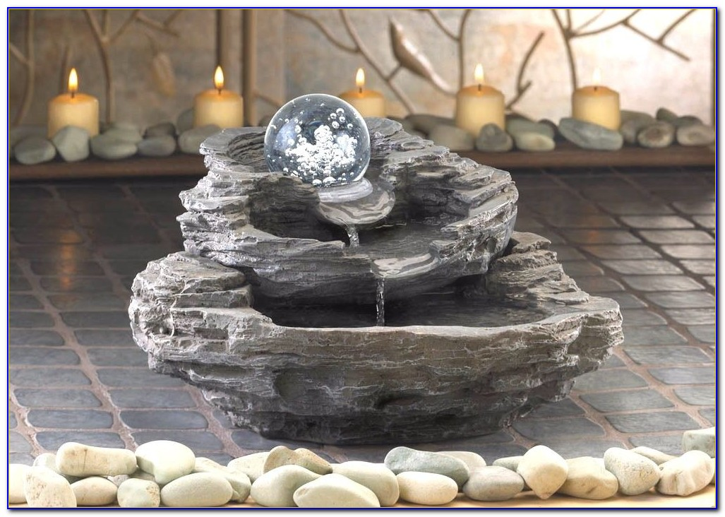 River Rock Tabletop Fountain