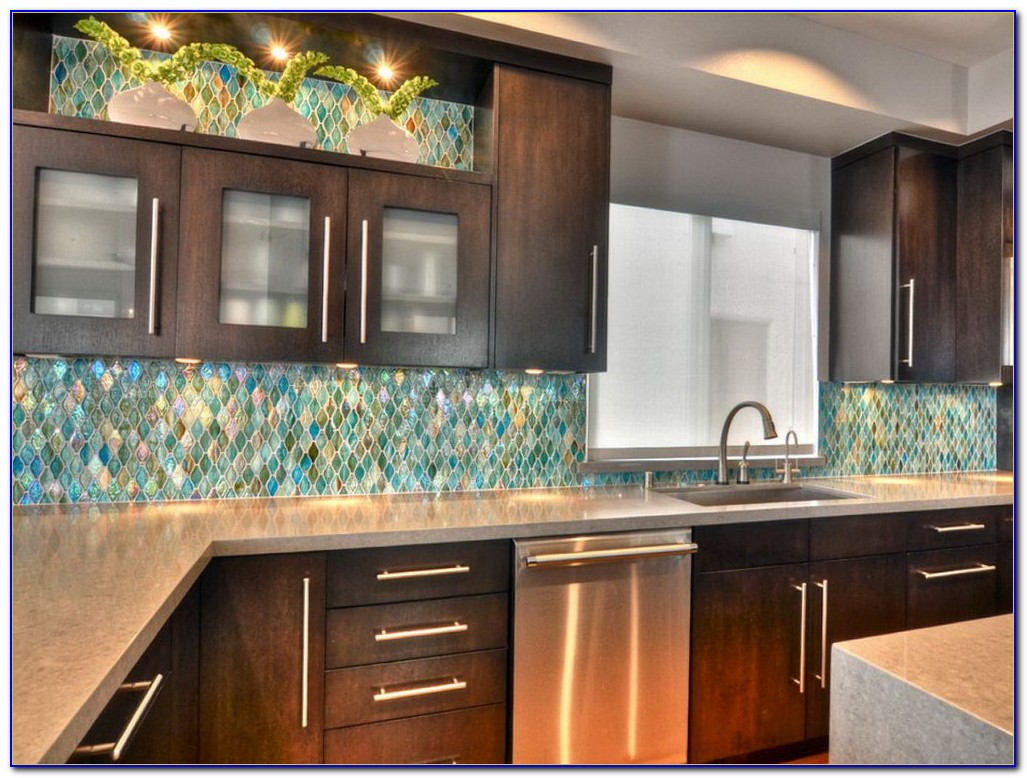 Sea Glass Mosaic Tile Backsplash
