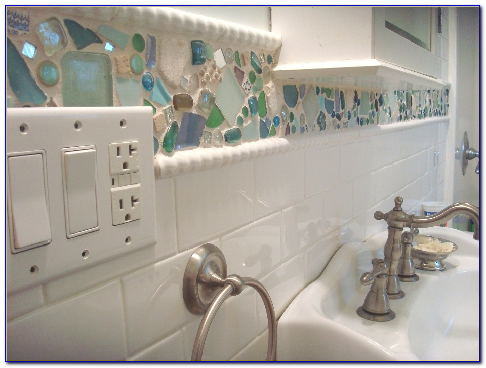 Sea Glass Tile Kitchen Backsplash