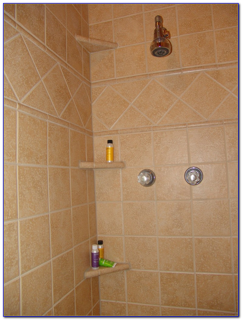 Shower Shelves Subway Tile