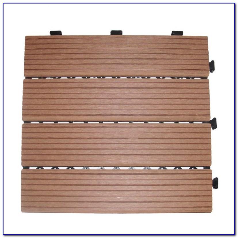 Snap Together Wooden Deck Tiles