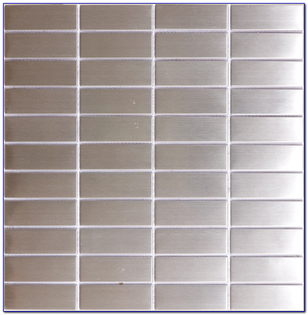 Stainless Steel Subway Tile 3x6