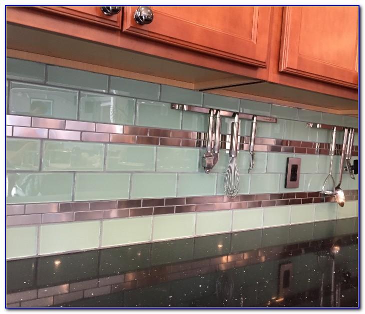 Stainless Steel Subway Tile Kitchen Backsplash